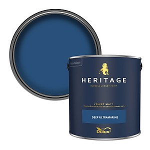 Dulux Heritage Matt Emulsion Paint - Deep Ultramarine - 2.5L