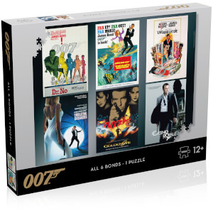 James Bond Actor Debut Posters 1000 piece Jigsaw Puzzle from I Want One Of Those