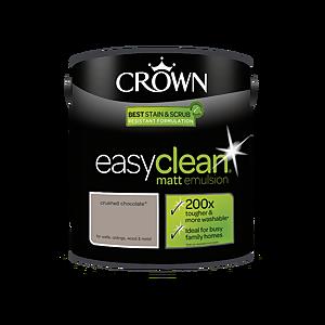 Crown Easyclean 200 Crushed Chocolate Matt Paint - 2.5L