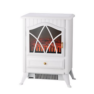 Arlec 1800W Flame Effect Electric Fireplace Heater - White