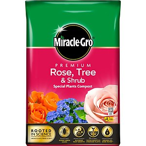 Miracle Gro Premium Rose Tree Shrub Compost 40L