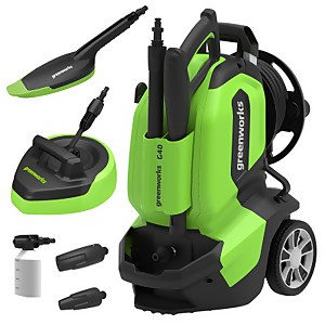 Greenworks G4 Pressure Washer (with Patio Head and Brush)