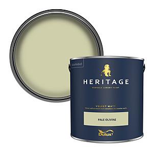 Dulux Heritage Matt Emulsion Paint - Pale Olivine - 2.5L