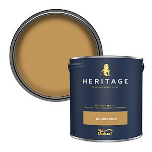 Dulux Heritage Matt Emulsion Paint - Brushed Gold - 2.5L