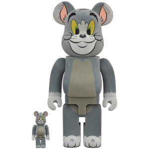 Medicom Tom & Jerry Flocky Tom 100% X 400% Be@rbrick 2-pack