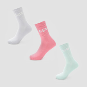 MP Women's Neon Brights Crew Socks (3 Pack) - Candy Floss/Neomint/Lilac