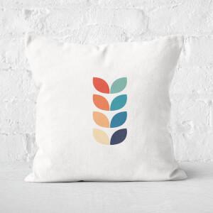 Flower Retro Motif Square Cushion