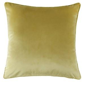 Large Plain Velvet Cushion - Ochre