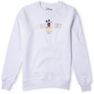 Disney Mickey Mouse Disney Wording Sweatshirt - White