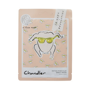 Revolution X Friends Chandler Pink Clay Sheet Mask