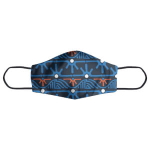 Abstract Tribal Landscape Pattern Face Mask
