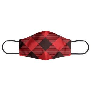 Red & Black Cross Tartan Face Mask