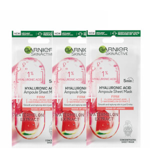 Garnier Ampoule Watermelon and 1% Hyaluronic Acid Sheet Mask Set (Pack of 3)