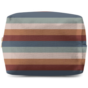 Winter Retro Stripes Wash Bag