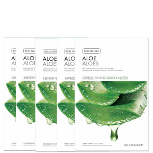 THE FACE SHOP Real Nature Sheet Mask - Aloe (Pack of 5)