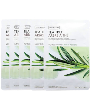 THE FACE SHOP Real Nature Sheet Mask - Tea Tree (Pack of 5)