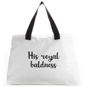His Royal Baldness Tote Bag