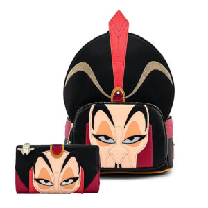 Loungefly Aladdin Jafar Cosplay Mini Backpack and Wallet Set