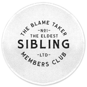 The Eldest Sibling The Blame Taker Round Bath Mat