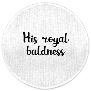 His Royal Baldness Round Bath Mat
