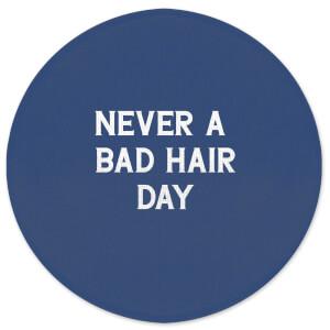 Never A Bad Hair Day Round Bath Mat