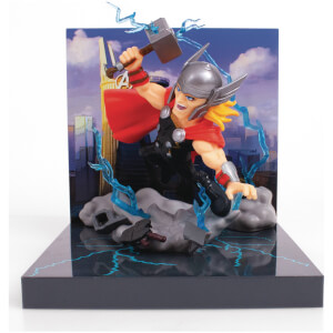 The Loyal Subjects Superama Marvel Comics Figural Diorama - Thor