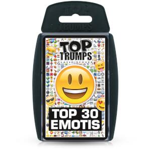 Top Trumps Card Game - Emotis Top 30 Edition