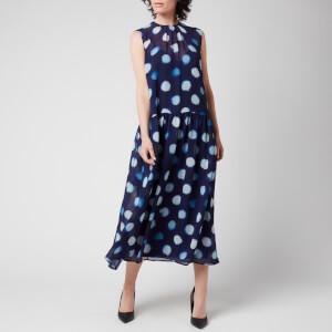 PS Paul Smith Women's Tagliatelle Spot Dress - Blue