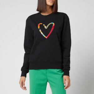 PS Paul Smith Women's Swirl Heart Print Sweatshirt - Black