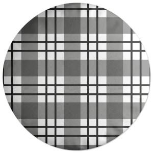 Tartan Checked Round Cushion