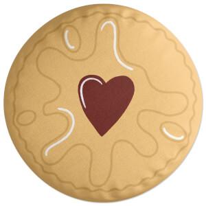 Jammy Biscuit Round Cushion