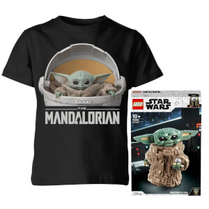 Lego Official LEGO Star Wars: The Mandalorian The Child Building Set (75318) Kids T-Shirt Bundle