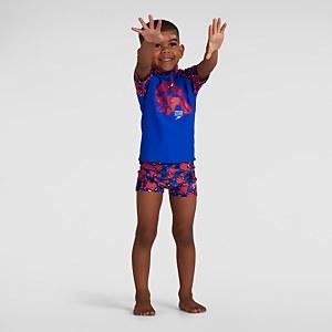 Infant Boy's Spider-Man Digital Allover Aquashort Blue