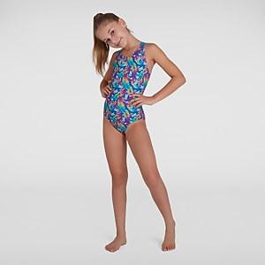 Mädchen Disney Minnie Mouse Allover Splashback Badeanzug in Blau