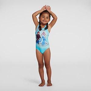 Infant Girl's Disney Frozen 2 Digital Placement Swimsuit Blue