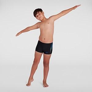 Boxer de bain Garçon Plastisol Placement Noir