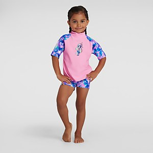 Infant Girl's Sun Protection Top and Short Pink