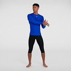 Men's Essential Long Sleeve Rash Top Blue