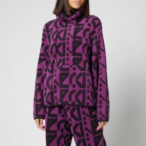 KENZO Women's Sport Monogram Sweatshirt - Purple