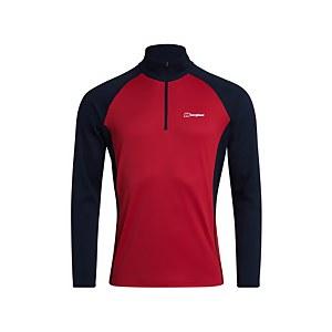Men's Tech Tee Long Sleeve Zip 2.0 - Red / Blue
