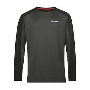 Men's Tech Tee Long Sleeve 2.0 - Dark Grey / Black