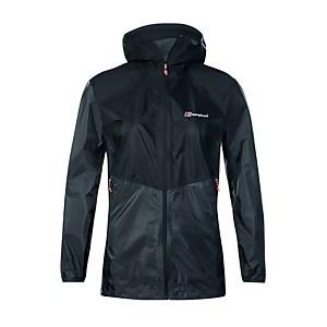 Women's Fast Hike Waterproof Jacket - Dark Grey/ Black