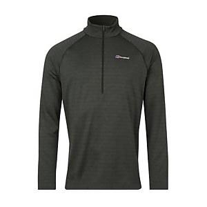 Men's Thermal Tech Tee Long Sleeve Zip Baselayer - Black / Dark Grey