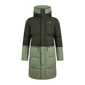 Women's Combust Reflect Long Down Insulated Jacket - Green