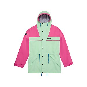 Unisex Tempest 89 Waterproof Jacket - Light Green / Pink