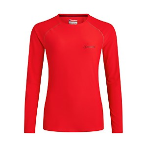 Women's 24/7 Long Sleeve Crew Base Layer - Red
