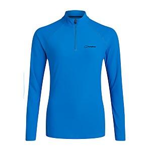 Women's 24/7 Long Sleeve Zip Base Layer - Blue