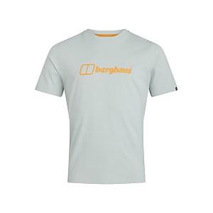 Men's Organic Big Colour Logo T-Shirt - Grey