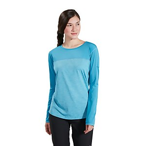 Women's Voyager Tech Tee Short Sleeve Crew - Light Blue