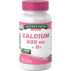 Calcium 600mg + Vitamin D3 800IU - 60 Tablets